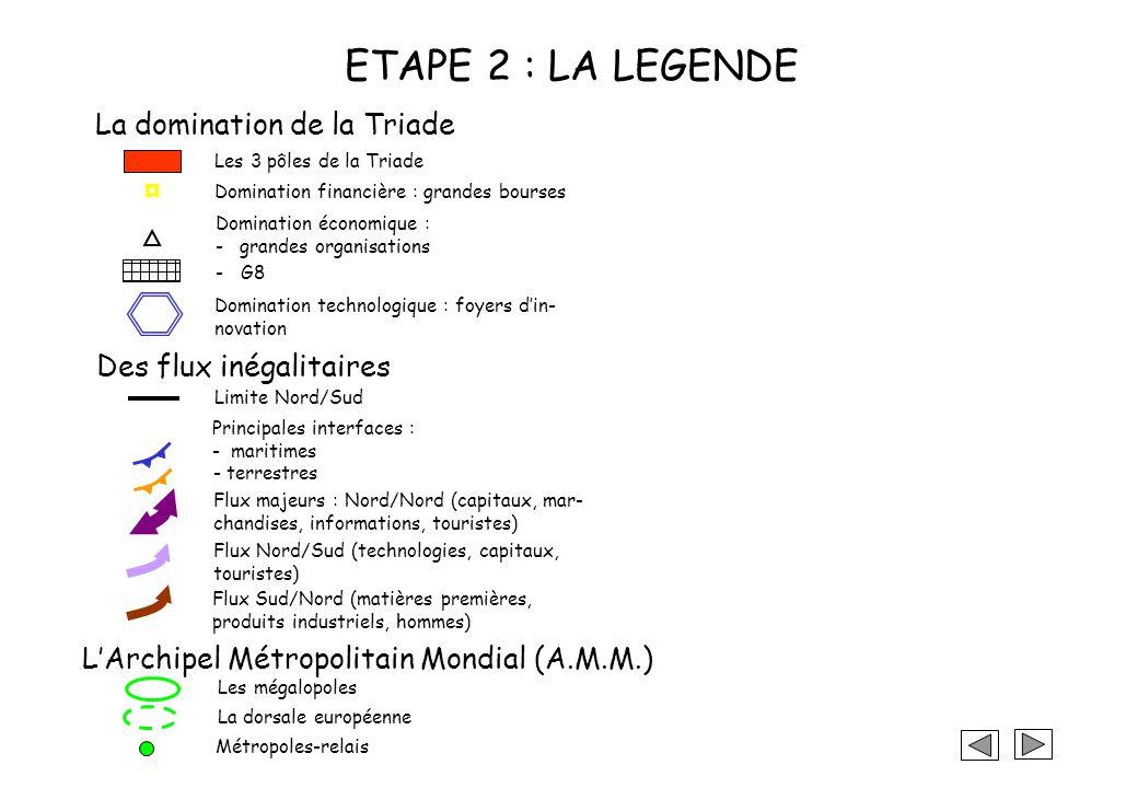 ETAPE 1 : QUE REPRESENTER.