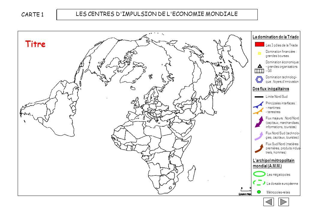 Choix dun planisphère à projection polaire pour mieux visualiser les flux entre les pôles de la Triade ETAPE 3 : REALISER LA CARTE