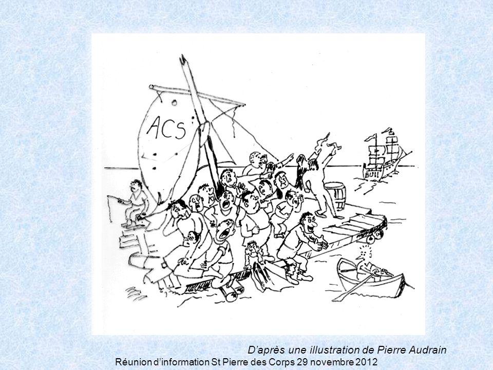 Réunion dinformation St Pierre des Corps 29 novembre 2012 Daprès une illustration de Pierre Audrain
