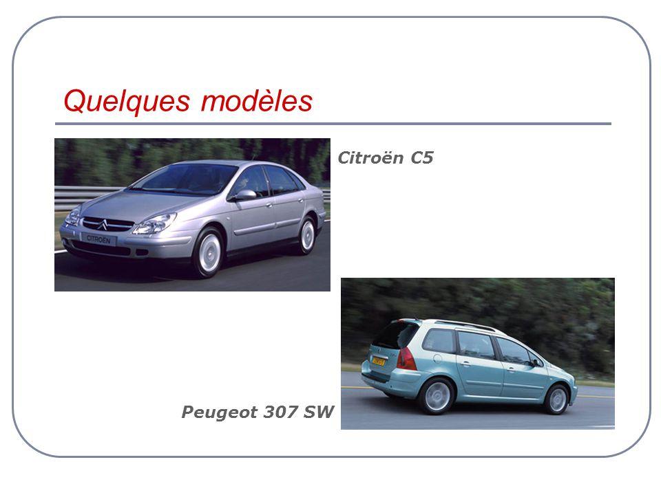 Quelques modèles Peugeot 307 SW Citroën C5