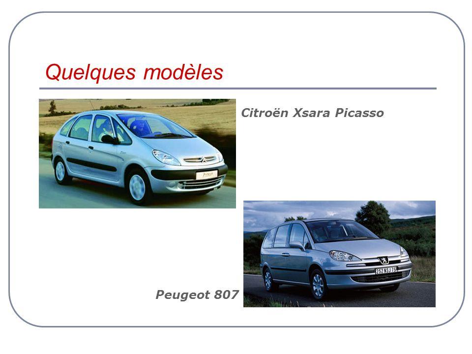 Quelques modèles Peugeot 807 Citroën Xsara Picasso