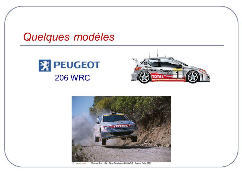 Quelques modèles WRC 206 WRC