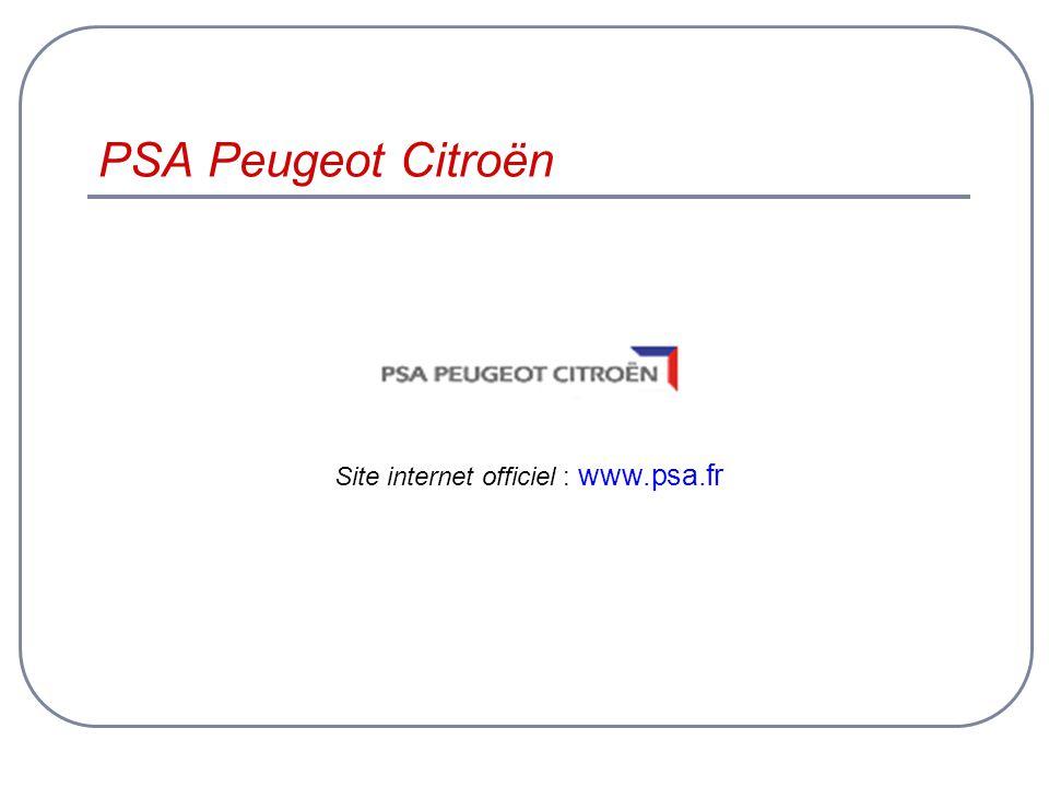 PSA Peugeot Citroën Site internet officiel : www.psa.fr