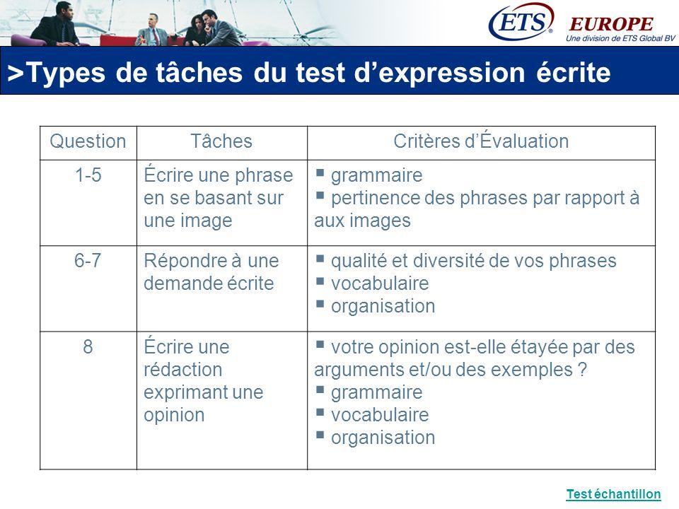 > Noter les tests dexpression orale et écrite TOEIC Comment les tests sont-ils notés .