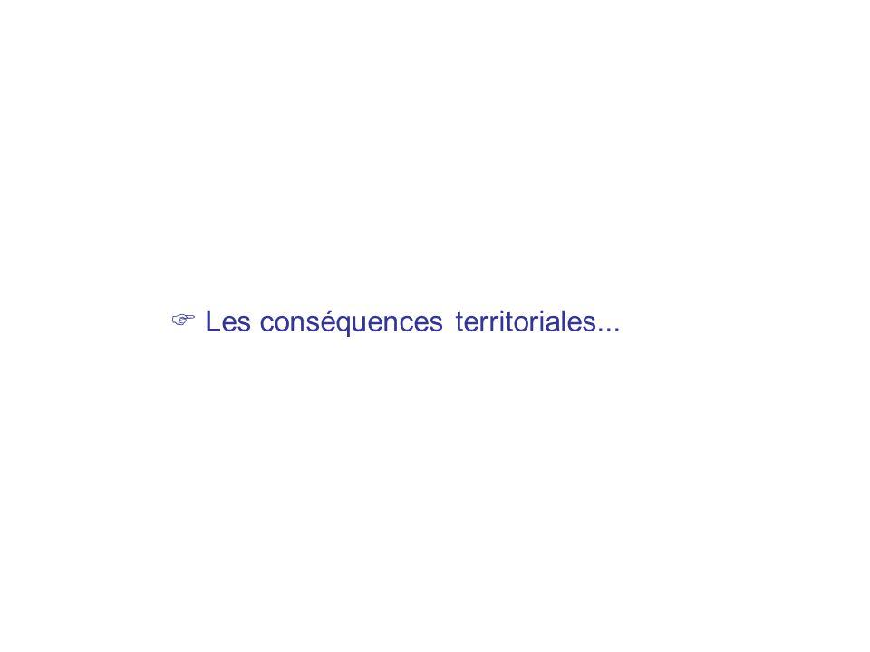 Les conséquences territoriales...