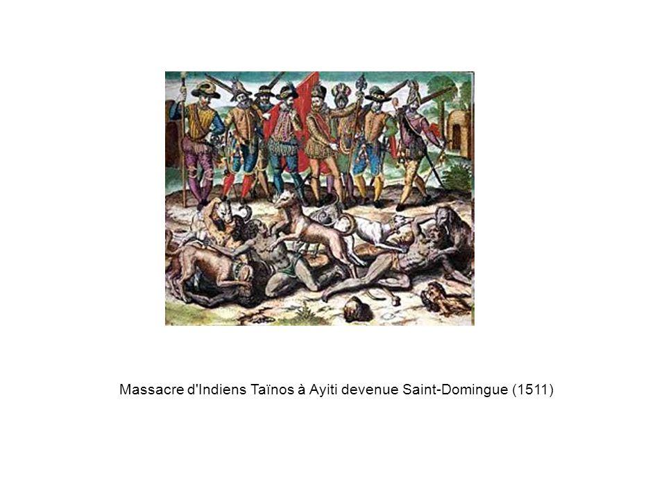 Massacre d'Indiens Taïnos à Ayiti devenue Saint-Domingue (1511)