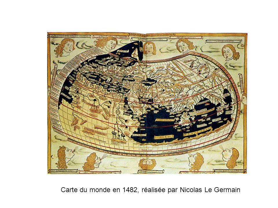 Carte du monde en 1482, réalisée par Nicolas Le Germain