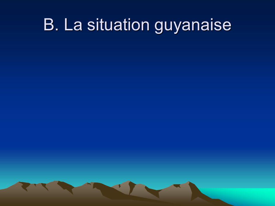 B. La situation guyanaise