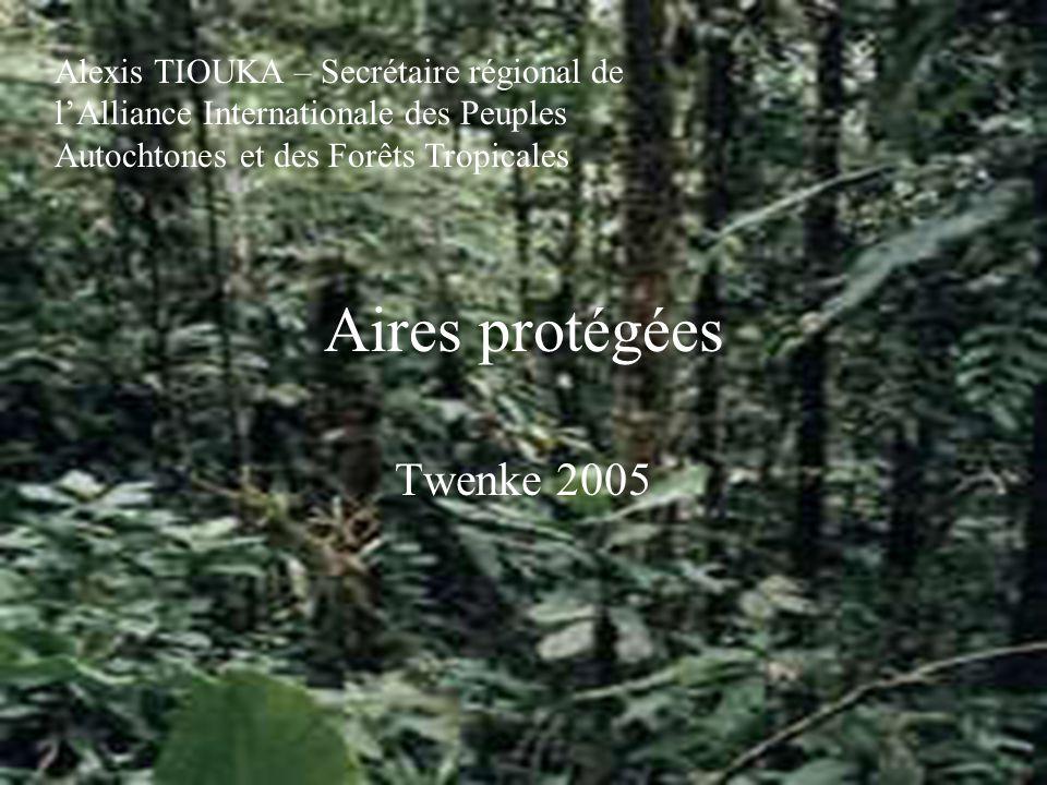 Aires protégées Twenke 2005 Alexis TIOUKA – Secrétaire régional de lAlliance Internationale des Peuples Autochtones et des Forêts Tropicales