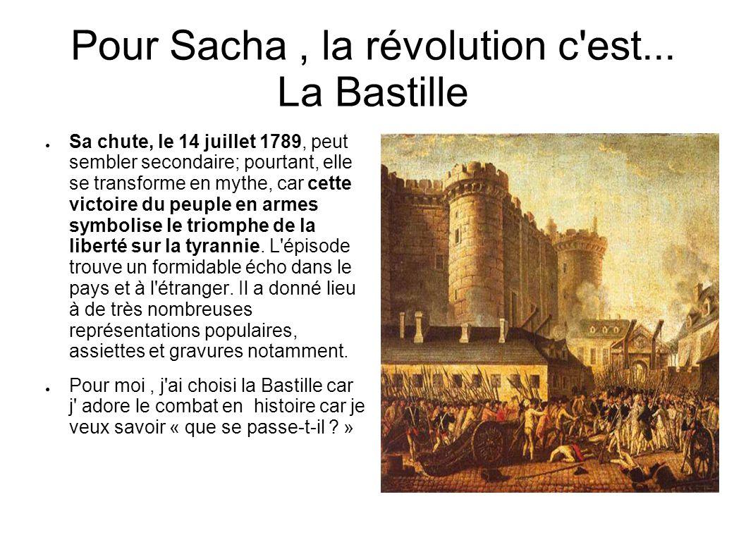Pour Sacha, la révolution c est...