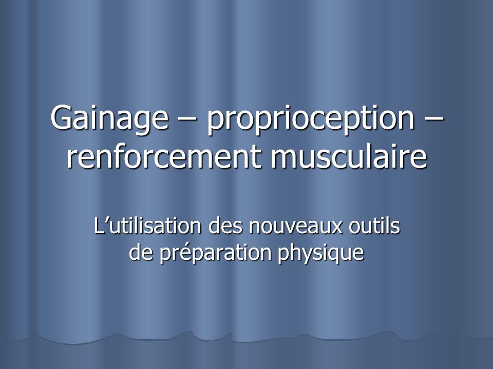 Gainage – proprioception – renforcement musculaire Lutilisation des nouveaux outils de préparation physique