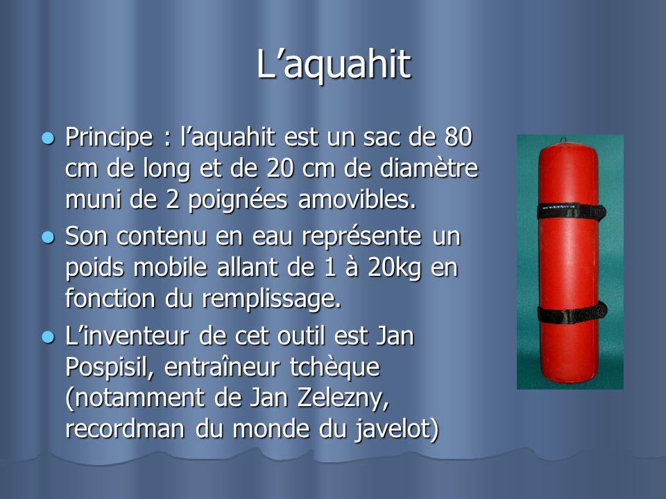 Laquahit Principe : laquahit est un sac de 80 cm de long et de 20 cm de diamètre muni de 2 poignées amovibles. Principe : laquahit est un sac de 80 cm