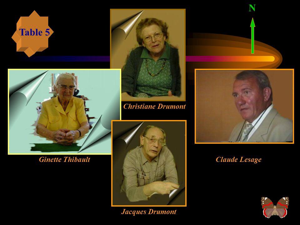 Raymond Vicomte Michel Depinay Christian Tassel Arlette Affagard N Table 4