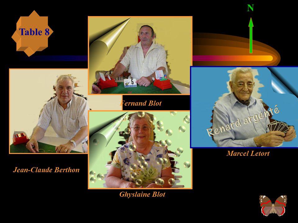 Jean Moyer N Max FournierMarc Amilien Table 7 Odile Setin