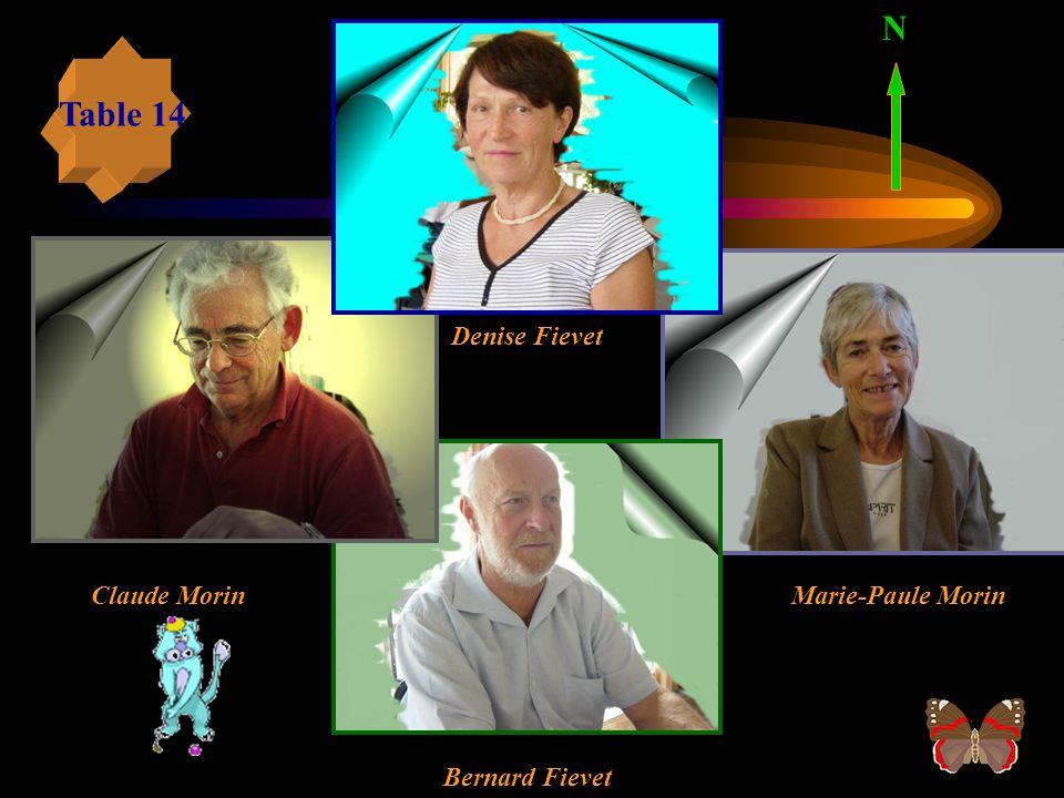 Table 13 N Jean-Pierre Piriou Henri Bunel Mauricette Mochet Jan Grimbert