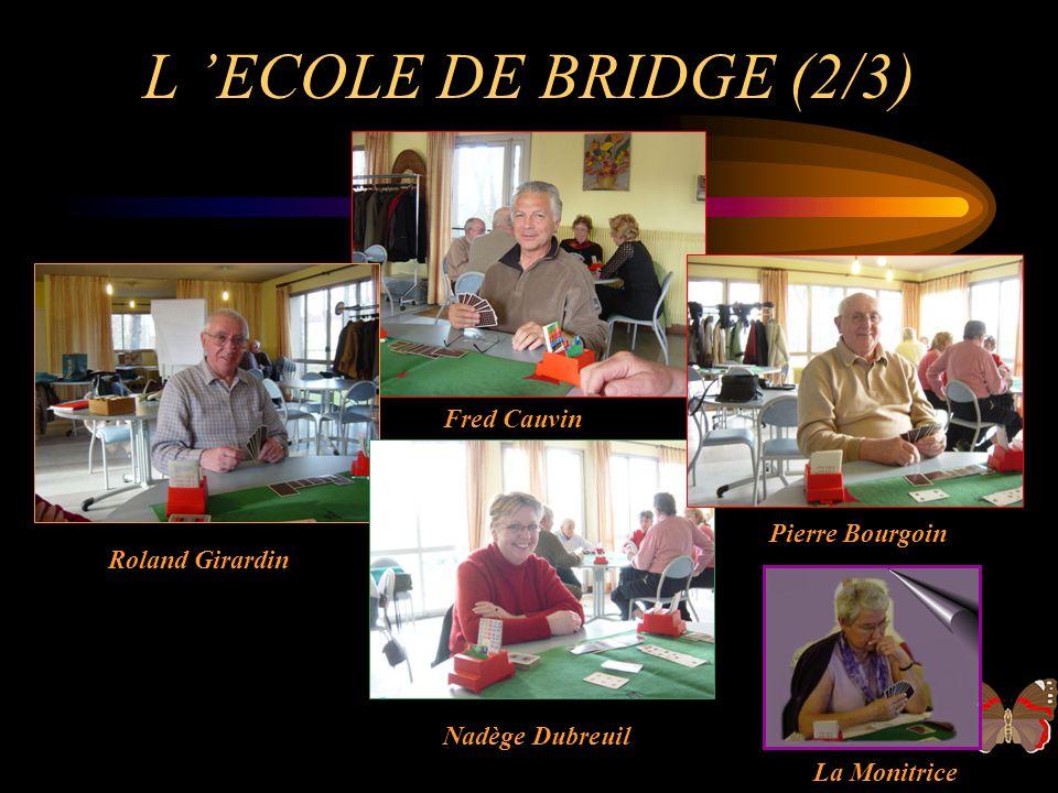 L ECOLE DE BRIDGE (1/3) Bernadette Lesage Louis Lefeu Annick Basille Alain Basille Le Moniteur