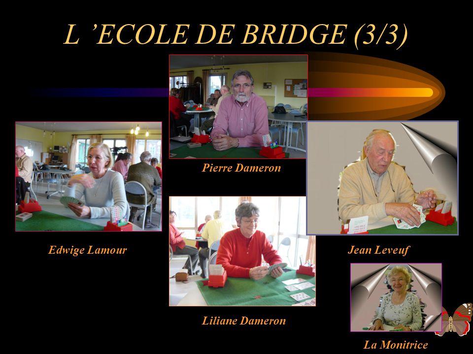 L ECOLE DE BRIDGE (2/3) Fred Cauvin Roland Girardin Nadège Dubreuil La Monitrice Pierre Bourgoin
