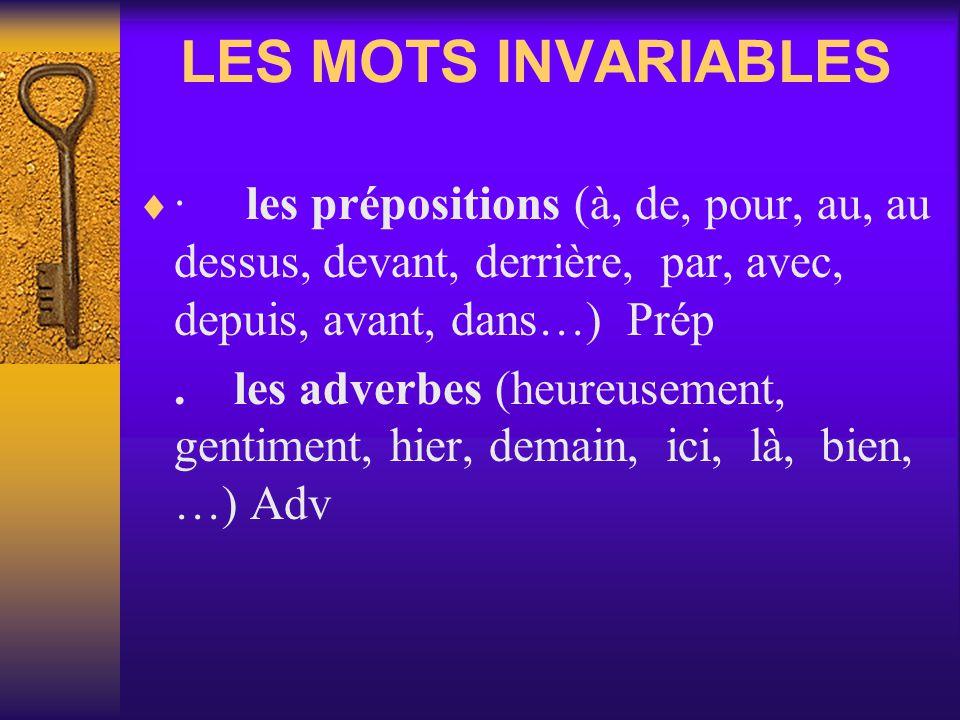 · les pronoms - les pronoms personnels sujets Pr PS - les pronoms personnels compléments Pr PC - les pronoms démonstratifs (celui-ci, ceux-là...) Pr D