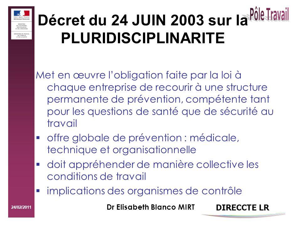 24/02/2011 Dr Elisabeth Blanco MIRT B.