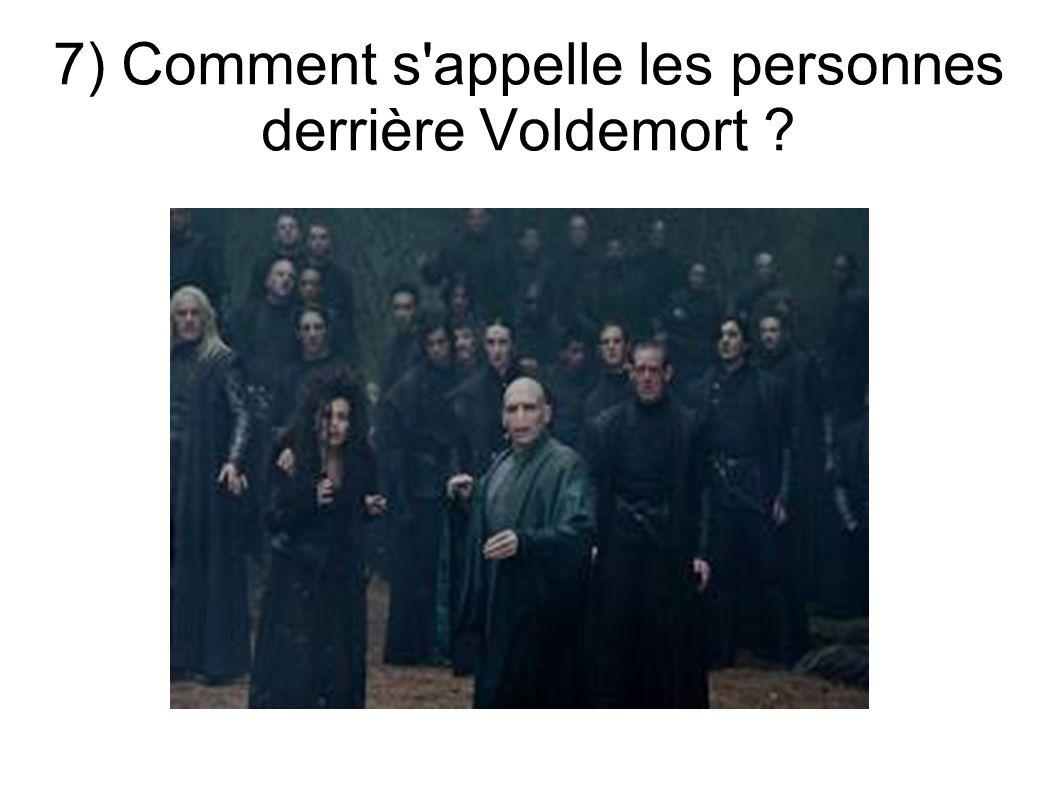 7) Comment s'appelle les personnes derrière Voldemort ?