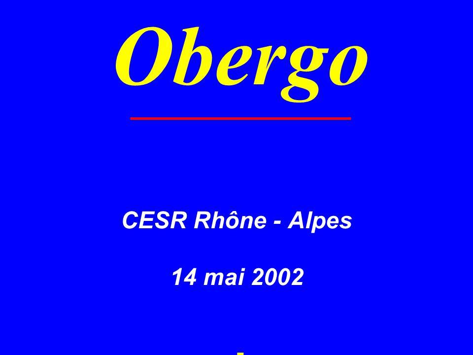 CESR Rhône - Alpes 14 mai 2002 - Obergo