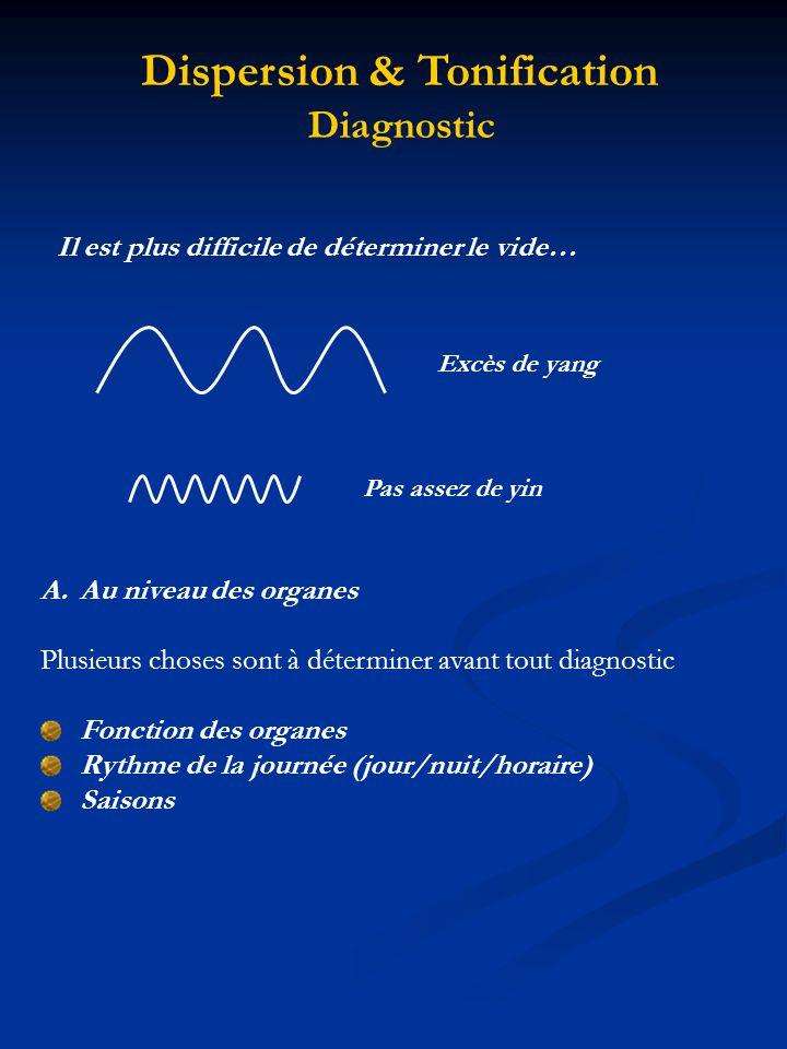 Lactivité des organes yang est à son M ax imum à 12h … De 24h à 12h YANG YIN De 12h à 24h YANG YIN Dispersion & Tonification Diagnostic En été YANG En hiver YANG