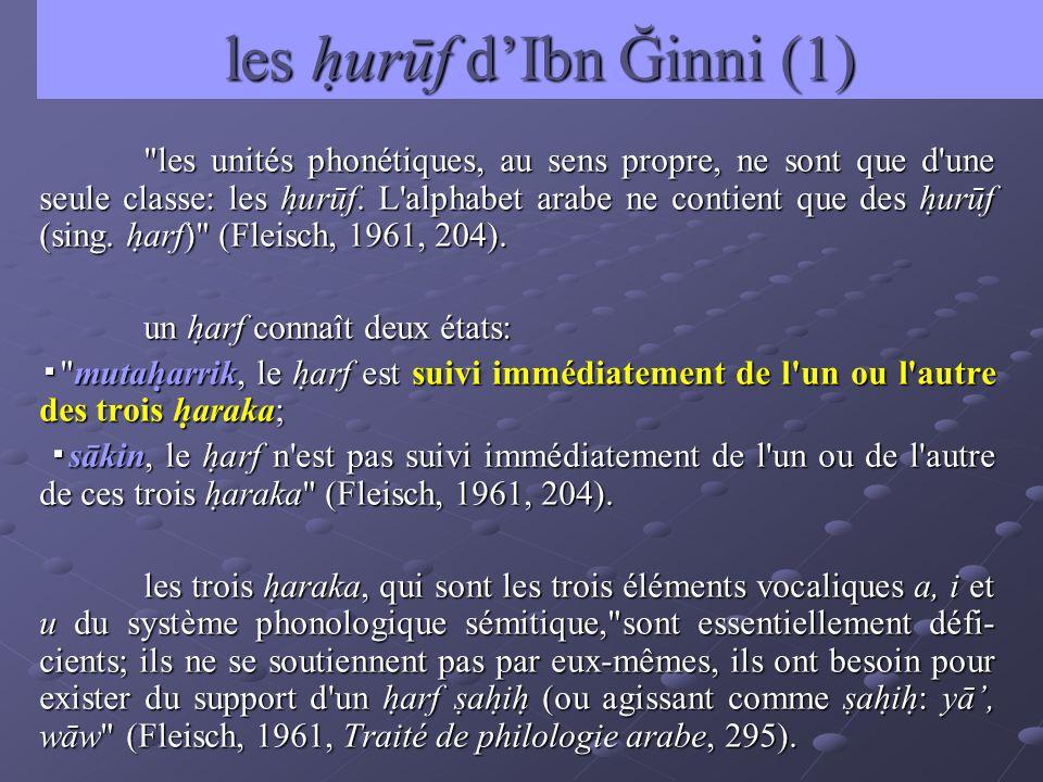 les hurūf dIbn Ğinni (1)
