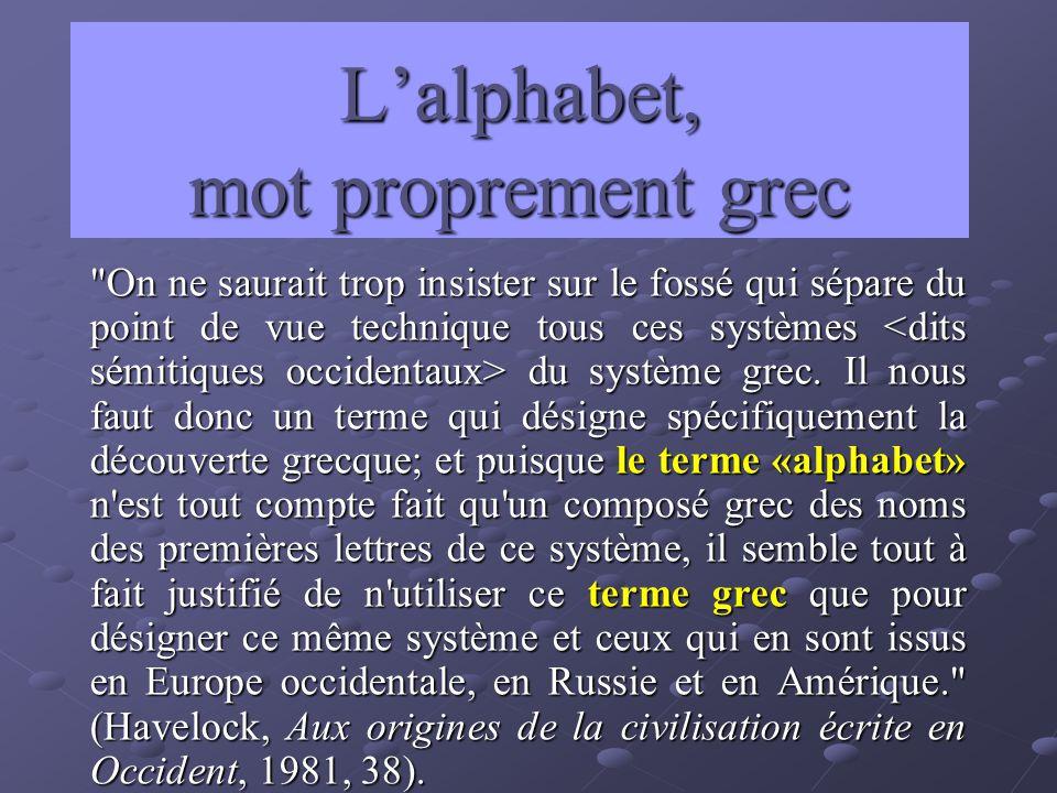 Lalphabet, mot proprement grec