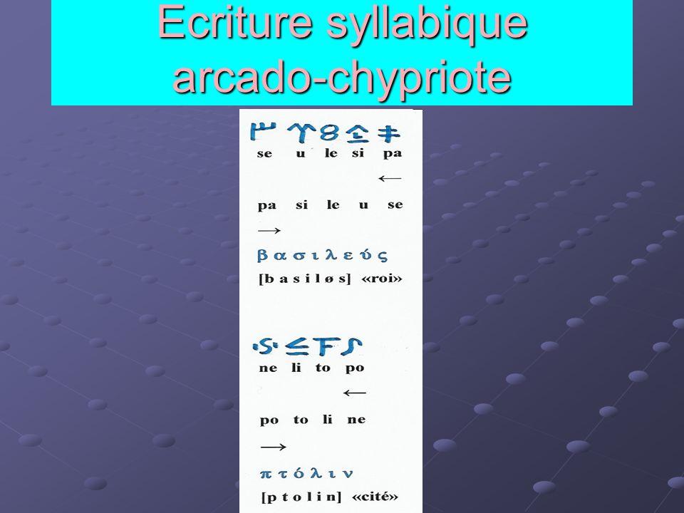 Ecriture syllabique arcado-chypriote