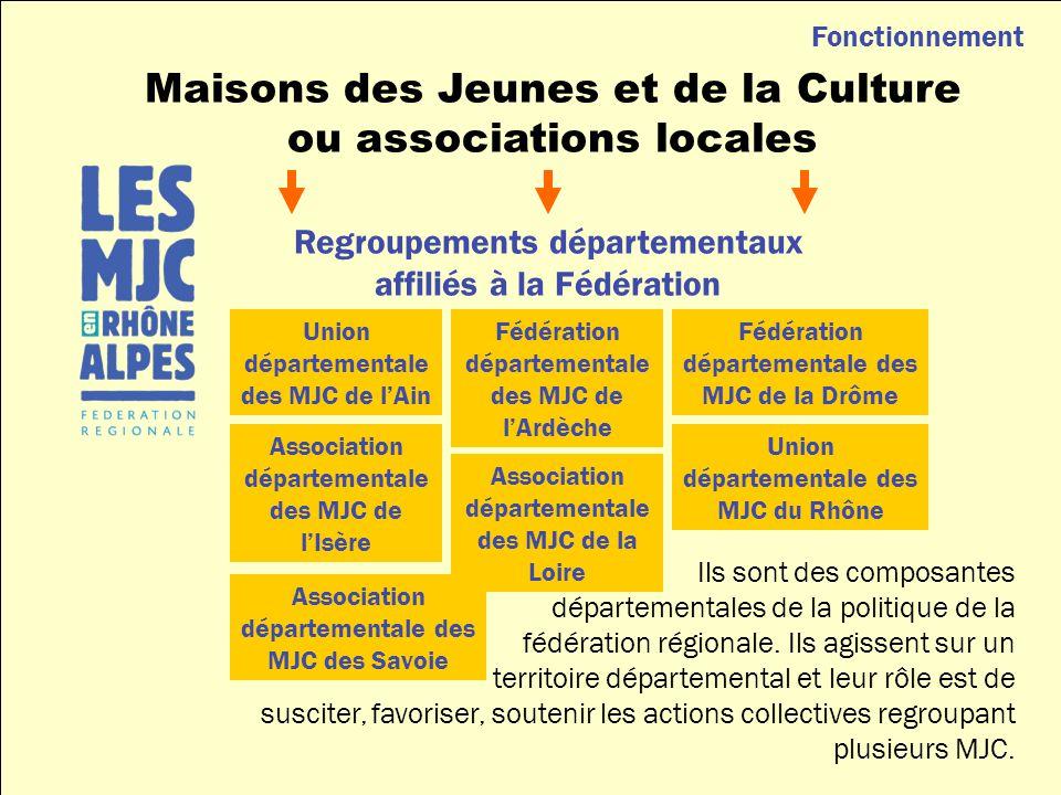 Ils sont des composantes départementales de la politique de la fédération régionale.