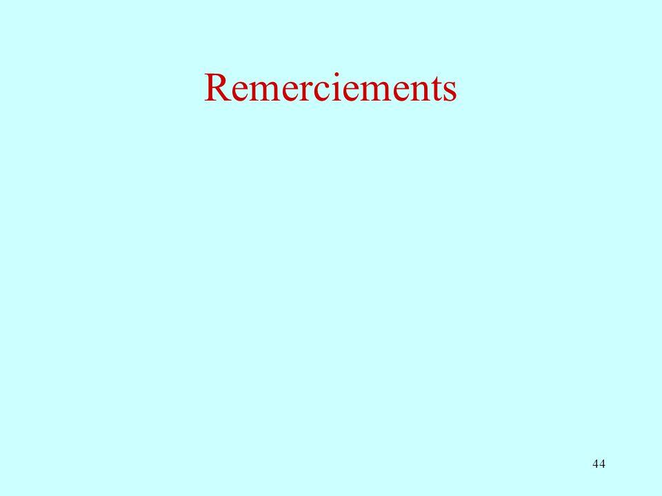 44 Remerciements
