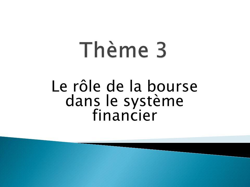 Le rôle de la bourse dans le système financier