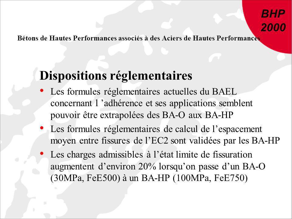 BHP 2000 DU NOUVEAU DANS LE BETON : Conclusions et recommandations de BHP 2000 BHP 2000 Bétons de Hautes Performances associés à des Aciers de Hautes