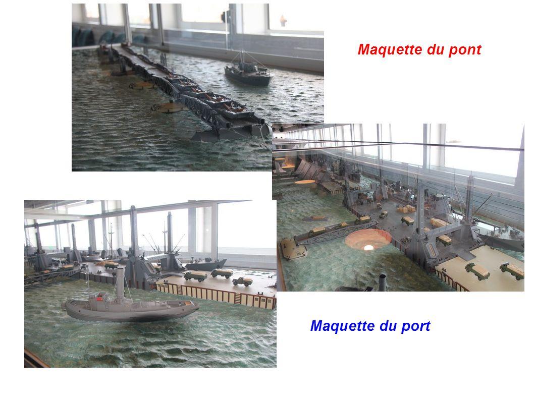 Maquette du pont Maquette du port