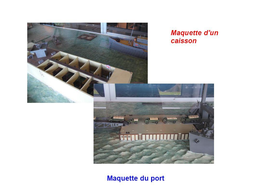 Maquette d'un caisson Maquette du port