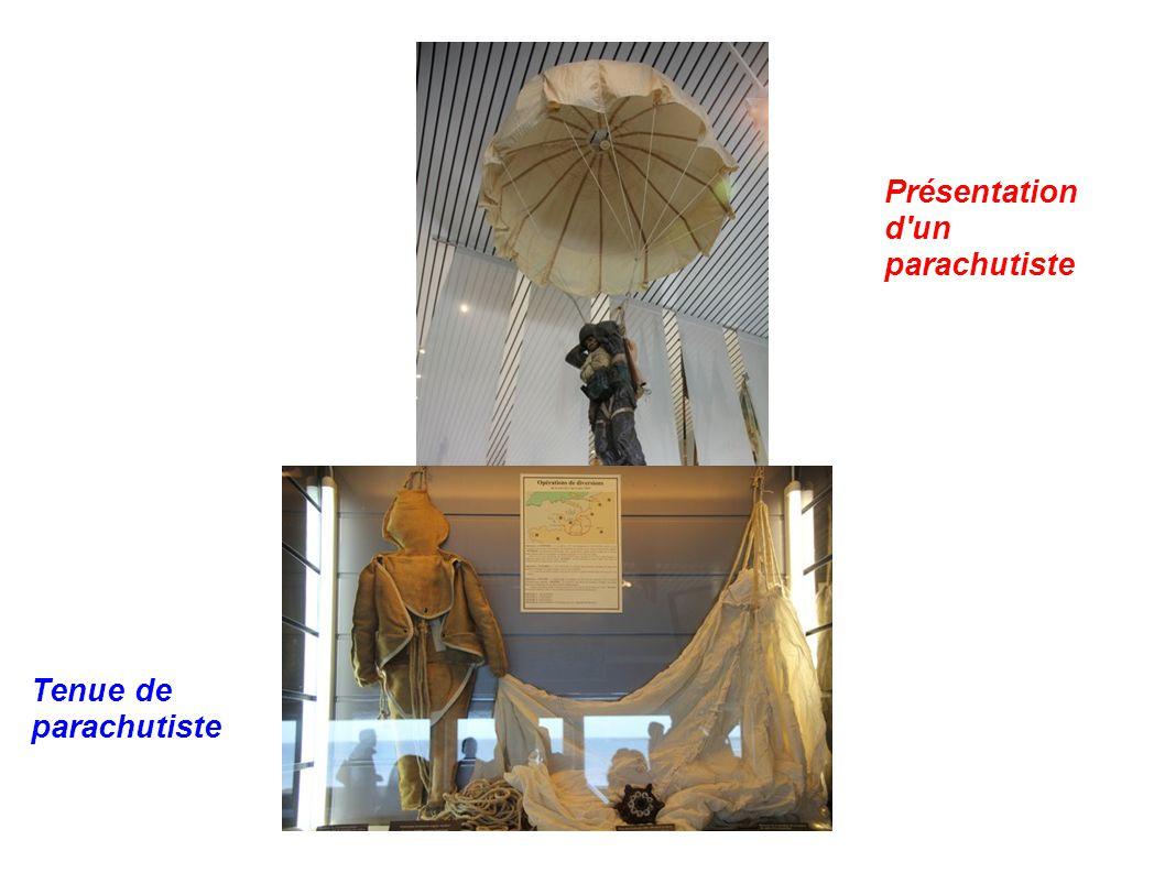 Présentation d'un parachutiste Tenue de parachutiste