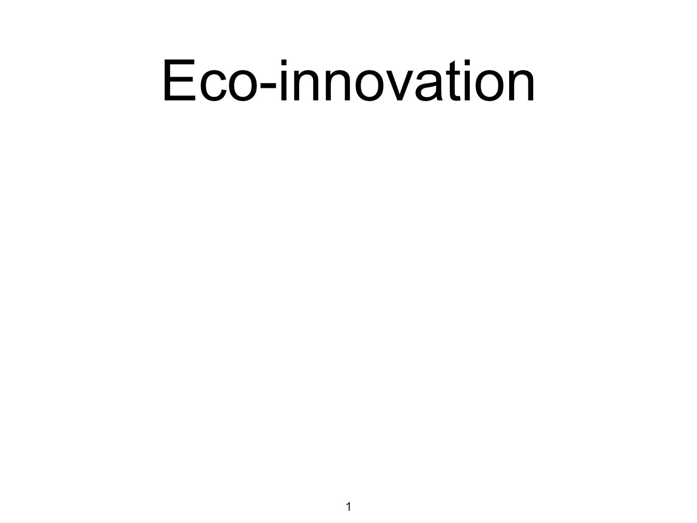 1 Eco-innovation