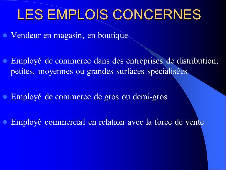 Champs dactivité Employé polyvalent, le titulaire du BEP « vente action marchande » peut intervenir dans toutes les phases de commercialisation de la