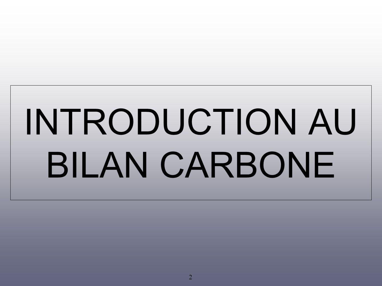 3 La méthode Bilan Carbone estimer les émissions directes et indirectes de gaz à effet de serre (GES) : ici, le CO 2.