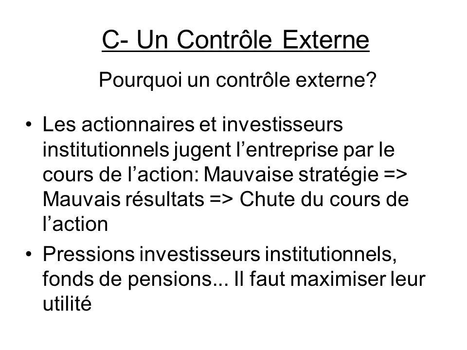 Pourquoi un contrôle externe.