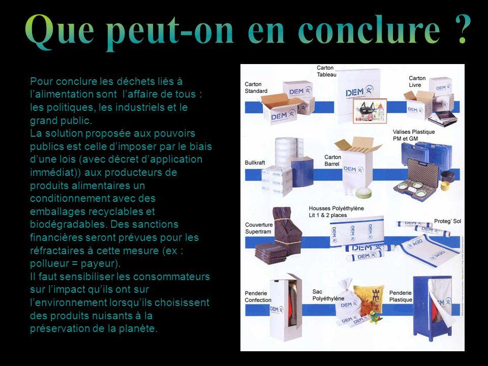 Il faut savoir que la démarche vers léco conception, c est-à-dire concevoir un produit depuis le moment où il est fabriqué jusquà la fin de sa vie est en progression.
