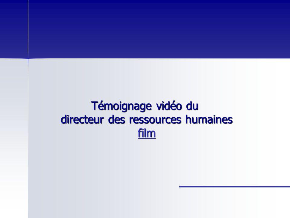 Témoignage vidéo du directeur des ressources humaines film