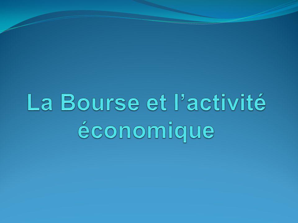 II/ La Bourse et le cycle de lactivité (fin) Influence de la volatilité des cours sur linvestissement productif.