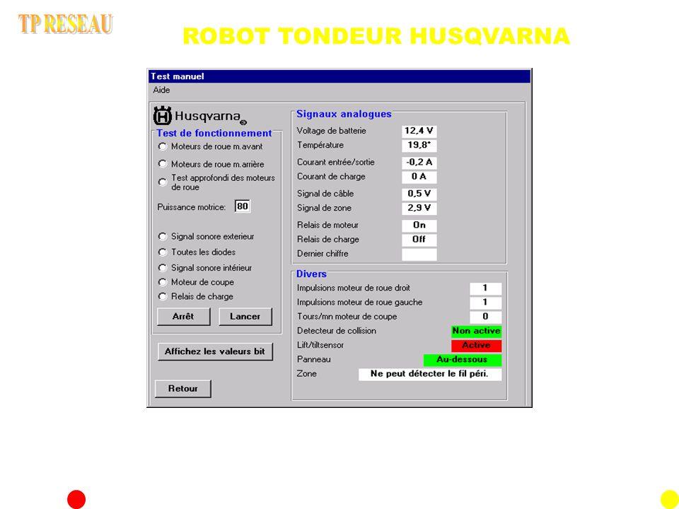 ACTIVITE N°3: Mesure de données Relevé des vitesses des différents moteurs A partir du PC maintenance réaliser des tests de vérification de fonctionnement des différents moteurs.