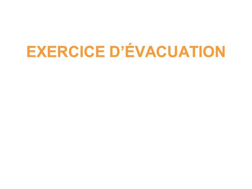 Lors dun exercice dévacuation, le responsable de la sécurité a constaté, quen 3 minutes, 450 personnes ont été évacuées.