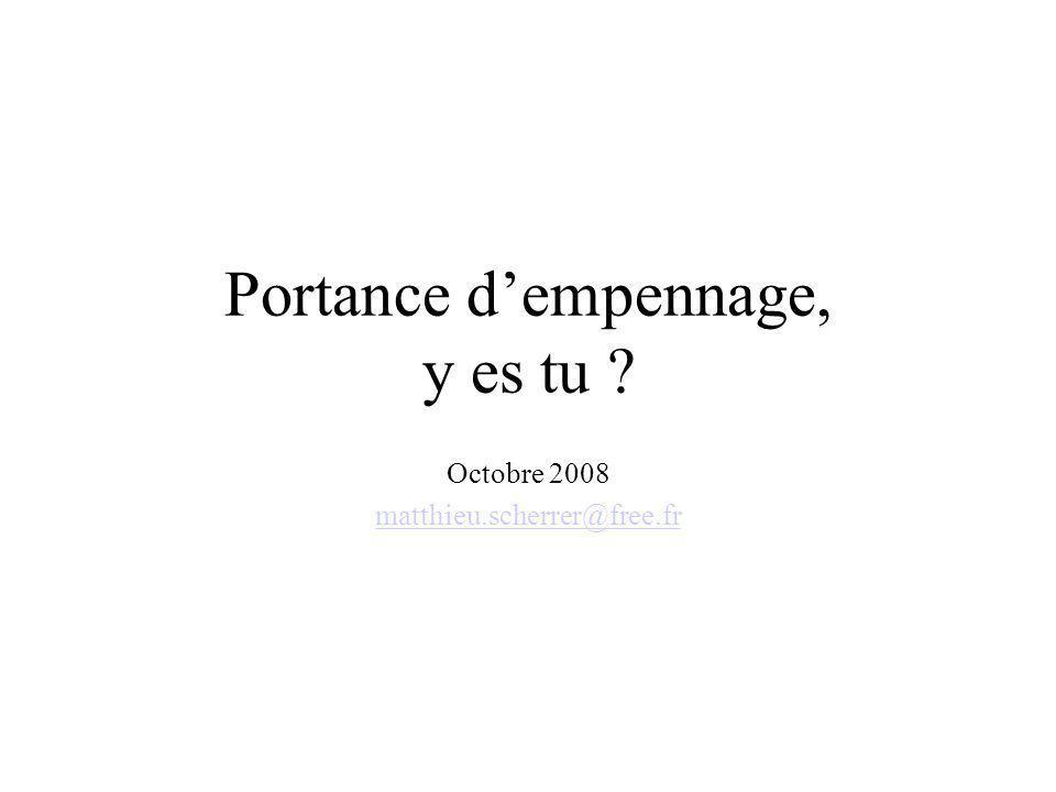 Portance dempennage, y es tu ? Octobre 2008 matthieu.scherrer@free.fr