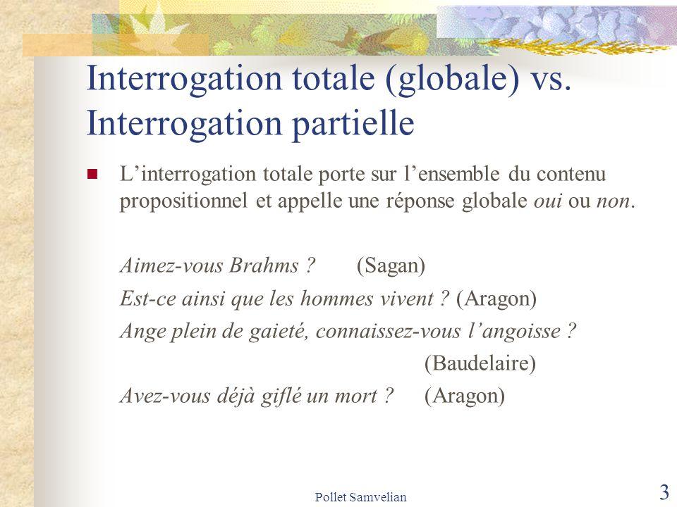 Pollet Samvelian 4 Interrogation totale (globale) vs.