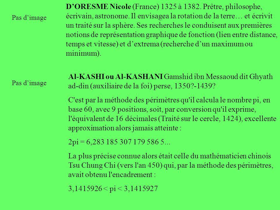 DORESME Nicole (France) 1325 à 1382. Prêtre, philosophe, écrivain, astronome. Il envisagea la rotation de la terre… et écrivit un traité sur la sphère