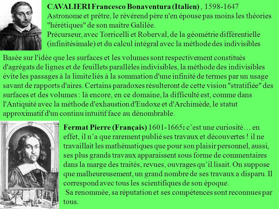 CAVALIERI Francesco Bonaventura (Italien), 1598-1647 Astronome et prêtre, le révérend père n'en épouse pas moins les théories