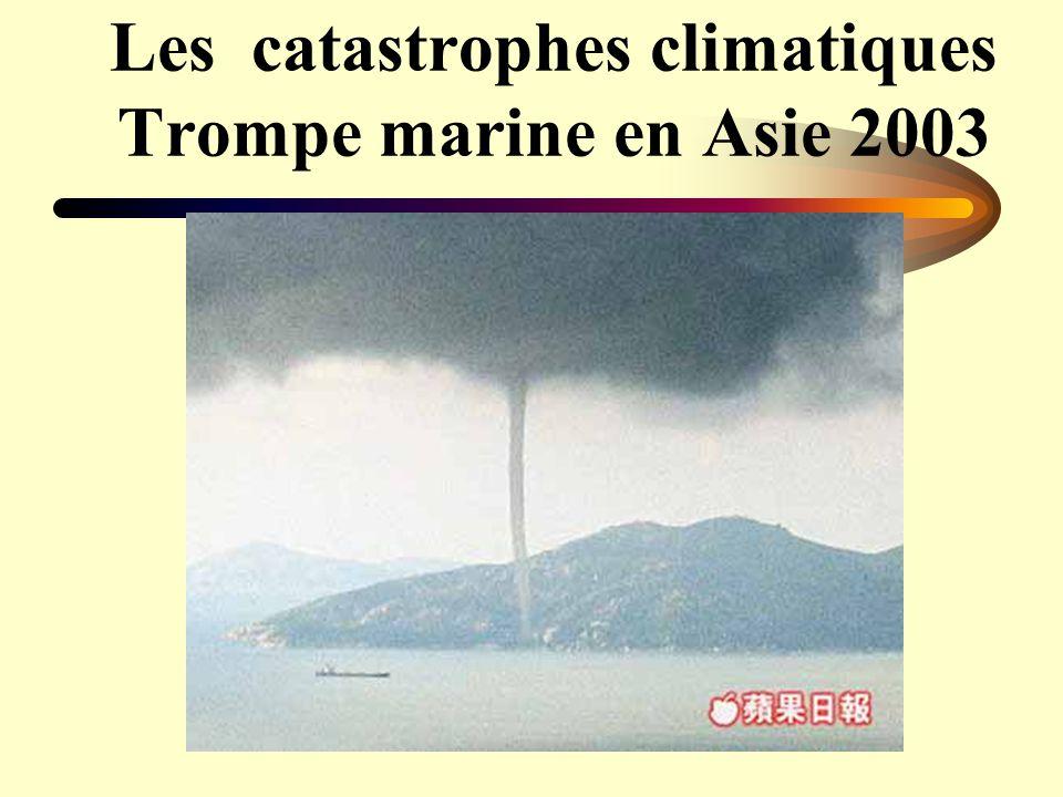 Les catastrophes climatiques Trompe marine en Asie 2003